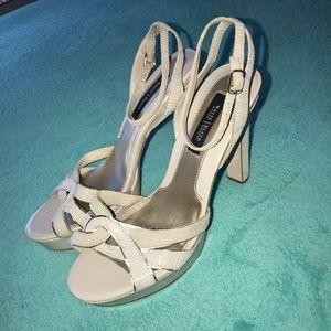 Cream Strapy White House Black Market Heels